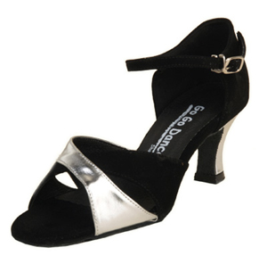 GO4083, Black Nubuck and Silver Leather Clearance