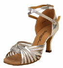 12028-42, Silver Leather / Silver Glitter Clearance